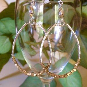 Jewelry - Silver, gold hoop earrings